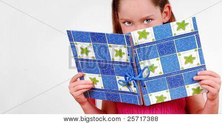 Girl Reading Book Journal