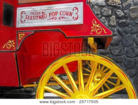 Old Fashioned Popcorn Cart