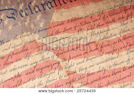Close up of Declaration of Independence
