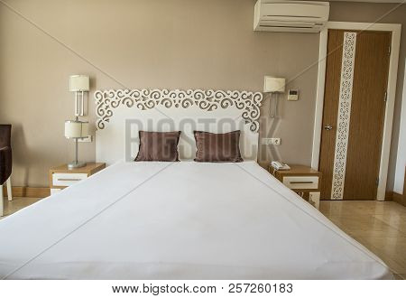 poster of Air Conditioned Hotel Room With Single Double Bed