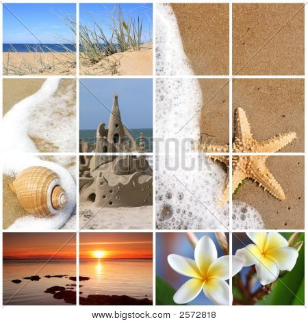 Summer Beach Collage