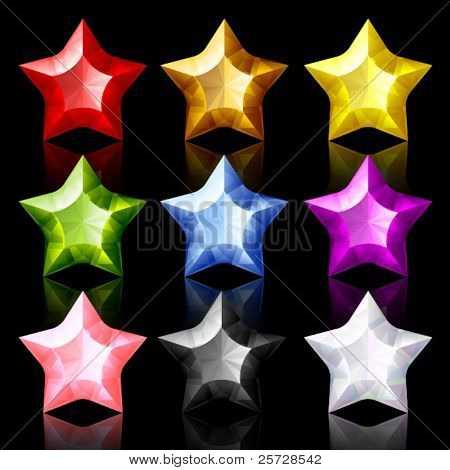 Set of nine jewelry Stars