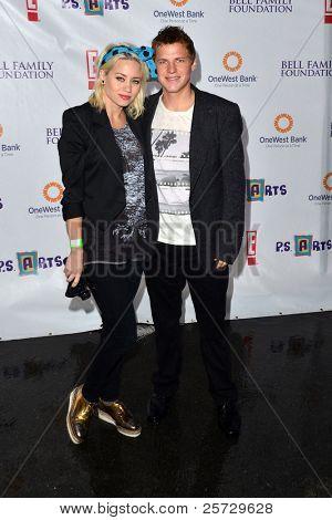 LOS ANGELES - NOV 20:  Kimberly Wyatt, Kevin G. Schmidt arrives at the P.S Arts 2011