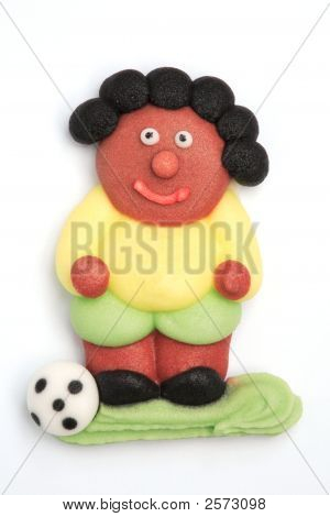 Soccer Player Made Of Sugar
