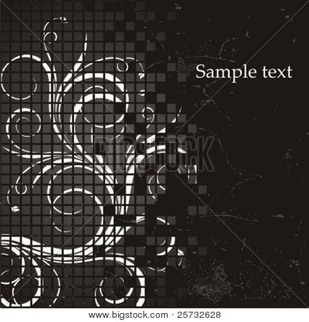 Decorative vector background with a pattern