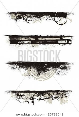 Set of vector grunge edges for your designs