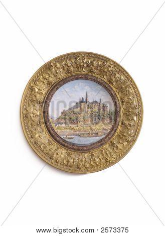 Bronze And Ceramic Decorative Plate