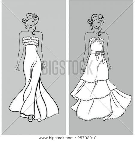 Siluetas de boda elegante
