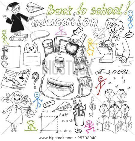 Big school doodle set
