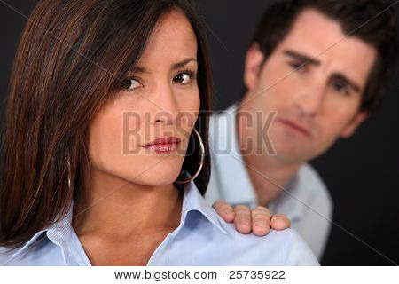couple having a quarrel