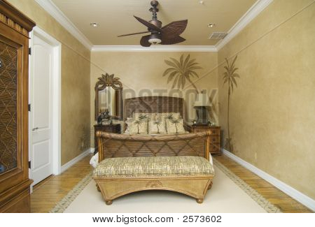 Tropical Wicker Bedroom