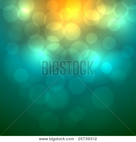 Abstract colorful bokeh vector  background.