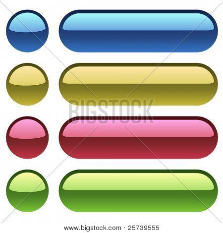 Color plastic buttons for web design.