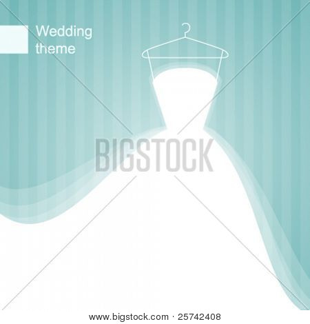 Background with wedding dress