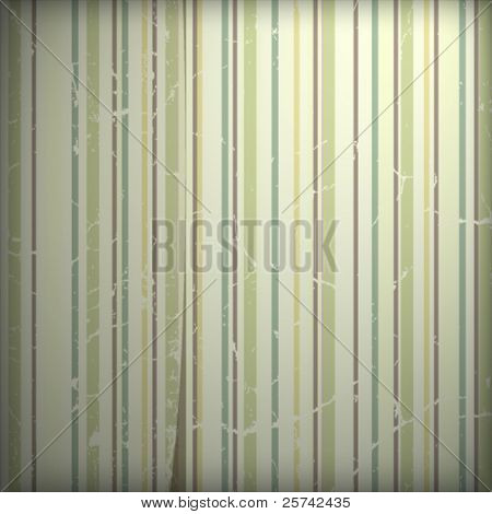 Grunge retro 70s striped wallpaper