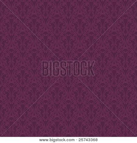 seamless pattern with stylized flora