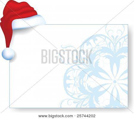 Christmas card with Santa's cap, vector AI8
