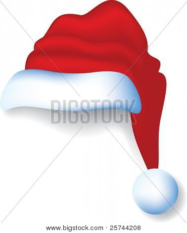 Santa's cap, vector AI8