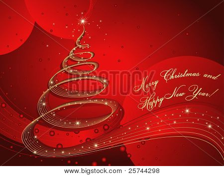 merry christmas and happy new year card, vector AI8