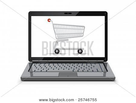 On-line shopping concept