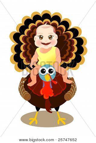 baby sit on turkey