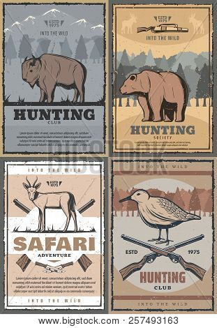 Hunting Club Retro Posters For