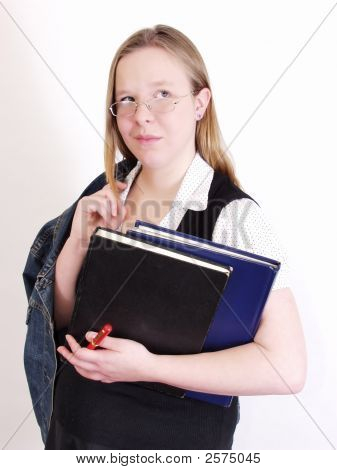 Smirking Student