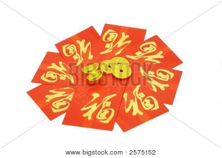 Chinese Red Packets And Ornaments