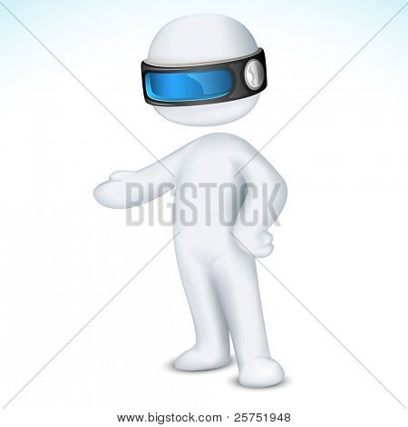 illustration of 3d man in vector fully scalable