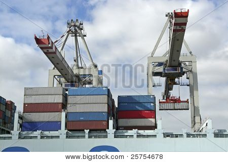 Container Shipping In A Port