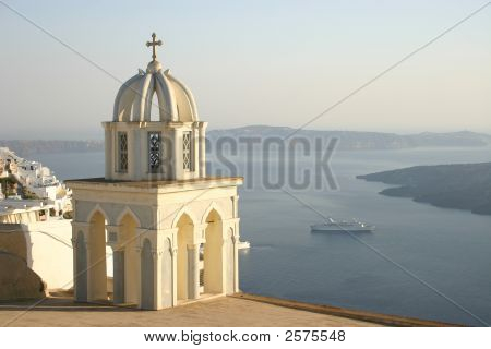 Church At Santorini, Greece