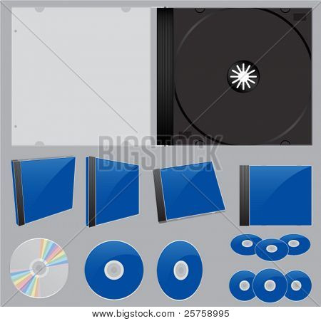 CD case and disc icons