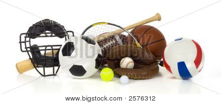 Sports Gear On White