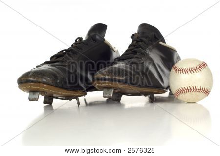 Vintage Antique Baseball Shoes