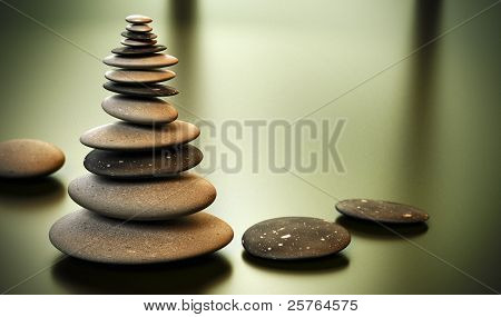 Pebble tower - Pebbles stack