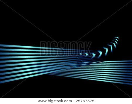 Abstract shiny business background with stripes and arrows - clean concept of success and progress - black and turquoise colored design - vector, eps