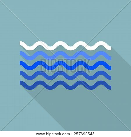 poster of Calm Sea Icon. Flat Illustration Of Calm Sea Icon For Web