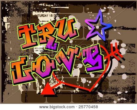 True Love Graffiti graphic