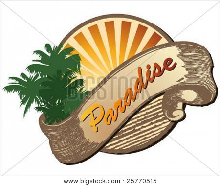 Paradise summer graphic