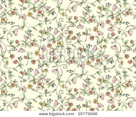 Classic ditsy flowers - seamless