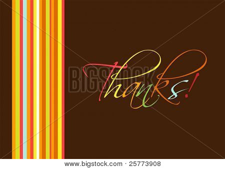 "Colorful ""Thanks"" greeting card."