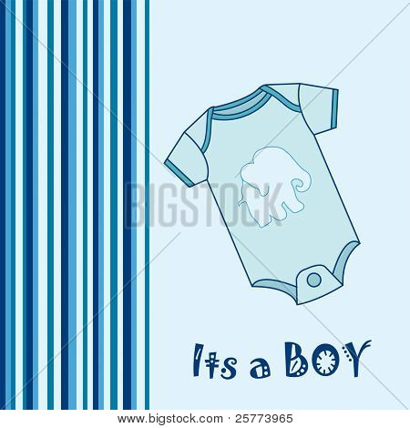 Baby Boy Arrival announcement greeting card.