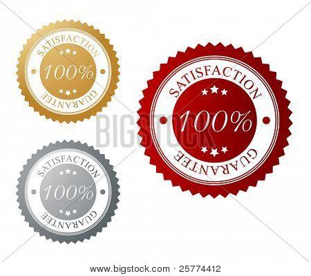 Garantía de satisfacción, etiqueta de vector.