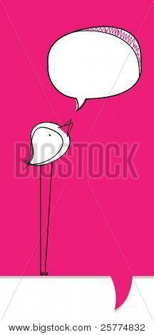 Bird bubble, vector.