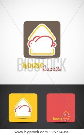 House rabbits Icon, Vector EPS10.