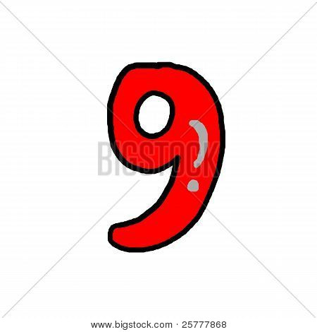 number on white backgrounds