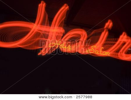Neon Hair Sign