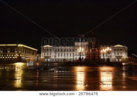 View of Mariinsky Palace at night