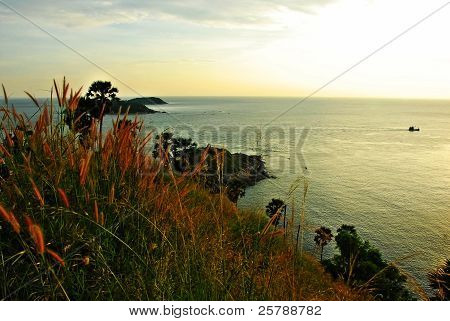 Phromthep cape viewpoint at sunset