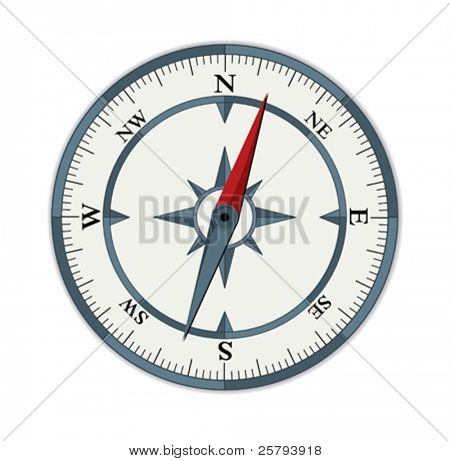 compass illustration isolated on white background